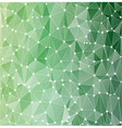 background polygonal green vector image vector image