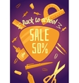 Big sale of stationery for school office and vector image vector image