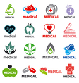 biggest collection of logos medical vector image
