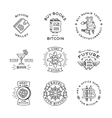 Bitcoin logo templates set Cryptocurrency badge vector image vector image
