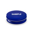 blue cosmetic package container for cream powder vector image vector image