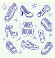 boots sketchy doodle collection vector image vector image