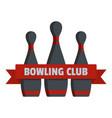 bowling club logo flat style vector image