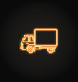 box truck neon icon in line style vector image vector image