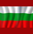bulgaria republic national tricolor waving flag vector image vector image