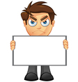 Business Man Blank Sign 3 vector image