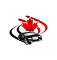 car canada logo design template vector image