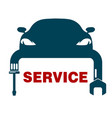 car repair symbol vector image vector image