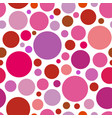 chaotic pattern round colorful graphic dots or vector image vector image