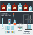 Chemical Laboratory Flat design Chemical glassware vector image vector image