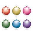 christmas balls Set of isolated multicolor ball vector image