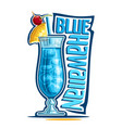 cocktail blue hawaiian vector image vector image