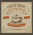 coffee house retro background premium quality vector image vector image