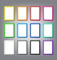 collection colored vertical frames blank mockup vector image vector image