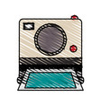 color crayon stripe image instant photo camera vector image