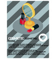 cosmetic color isometric poster vector image vector image