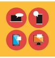 digital messaging related icons image vector image vector image