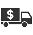dollar delivery flat icon vector image vector image