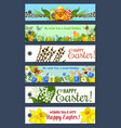 easter holiday floral tag and gift label set vector image vector image