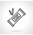 Energy bar black line design icon vector image