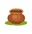 flat icon of old pottery jug on green grass vector image