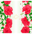 floral border seamless vertical background vector image vector image