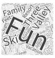 fun valley ski vacations Word Cloud Concept vector image vector image