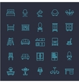 Furniture and home decor icon set vector image vector image