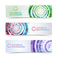 futuristic colorful banners set vector image vector image