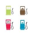 Gas pump icons vector image vector image