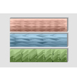 geometrical banners vector image vector image