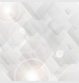 grey tech polygon abstract background vector image vector image
