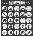Halloween icon set Holiday design vector image vector image