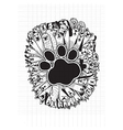hand drawn doodle Funny Dogs Set vector image