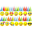 happy birthday emoji icons vector image vector image