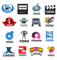large set of logos for video production vector image