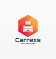 logo car rex gradient colorful style vector image