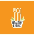 logo healthy eating vector image