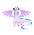 magic dragon winged with horns and wings vector image vector image