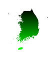 map of south korea vector image
