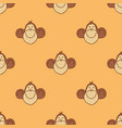 monkey head pattern vector image vector image