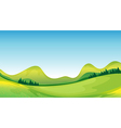 Mother nature on its green and blue side vector image vector image