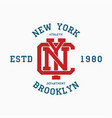 new york college typography for t-shirt vector image vector image