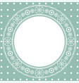 pattern lace openwork round frame for text vector image