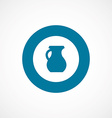 pitcher bold blue border circle icon vector image vector image