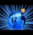 planet earth with bingo lottery number in the vector image vector image