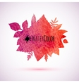 Red watercolor painted autumn leaves banner vector image vector image