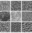 set nine seamless patterns vector image