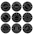 set of vintage labels of food vector image