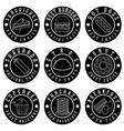 set vintage labels food vector image